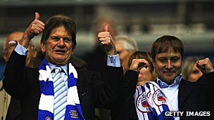 Reading Chairman Sir John Madejski and current owner Anton Zingarevich