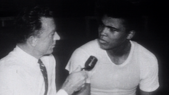 Muhammad Ali being interviewed