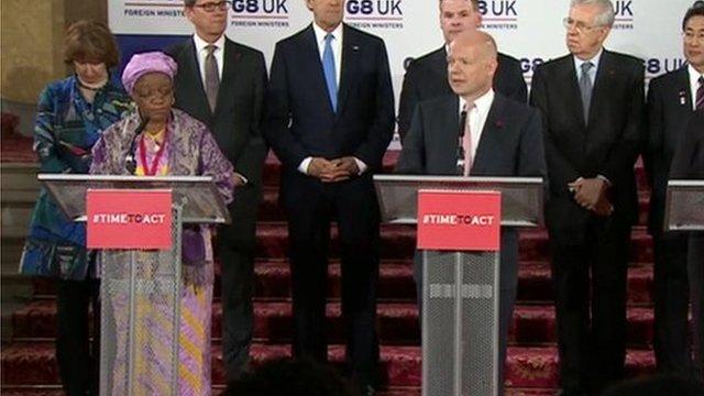 G8 delegates