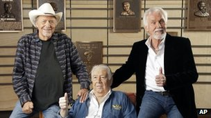 "Bobby Bare, ""Cowboy"" Jack Clement and Kenny Rogers"