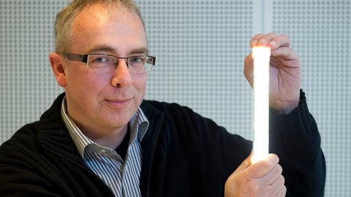 The prototype lamp uses half the energy of equivalent lights on the market