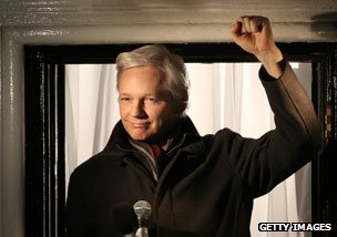 Julian Assange at the Ecuadorean Embassy