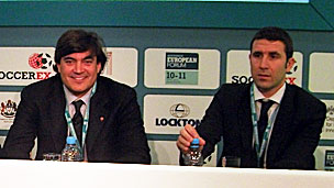 Shergul Arshad (left) and Giuliano Giorgetti, the heads of digital at AS Roma and AC Milan