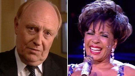 Lord Kinnock and Dame Shirley Bassey