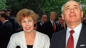 Raisa and Mikhail Gorbachev in 1989 - file pic