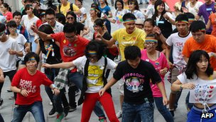 Flash mob organised by the LGBT community in Hanoi, Vietnam, September 2012