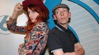 Florence Welch and Steve Lamacq