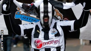 A Newcastle supporter