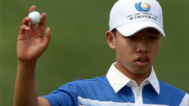 14-year-old golfer Guan Tianlang