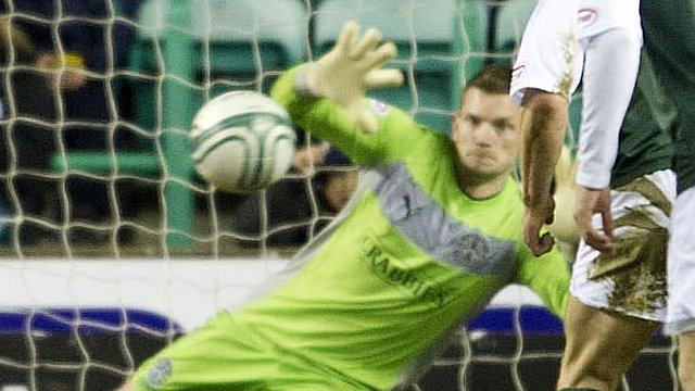 Hibernian goalkeeper Ben Williams