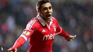 """Benfica""""s Eduardo Salvio"""