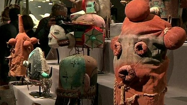 Hopi masks in Paris