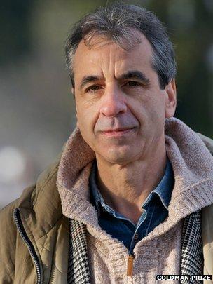 Goldman Prize 2013 winner Rossano Ercolini (Image: Goldman Prize)