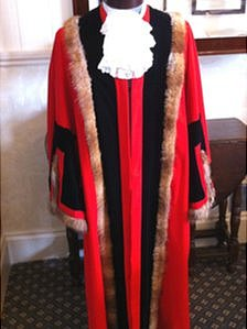 Weston-super-Mare deputy mayor's robe