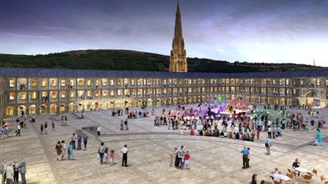 Artist's impression of the Piece Hall in 2015