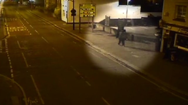 CCTV footage of Sasha Masamba prowling the streets of Hounslow