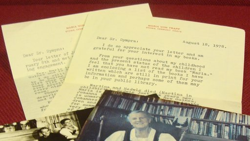 Correspondence and letters from Maria von Trapp