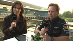 Lee McKenzie and Christian Horner