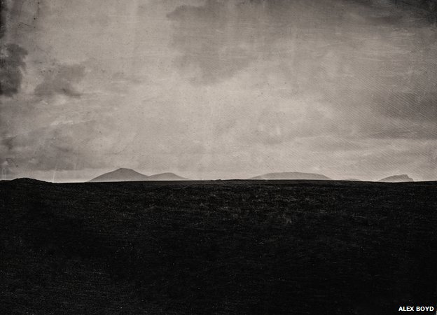 Empty landscape (view to Glinsk), Chill Chomain, 2012, wet-plate collodion (Digital print)