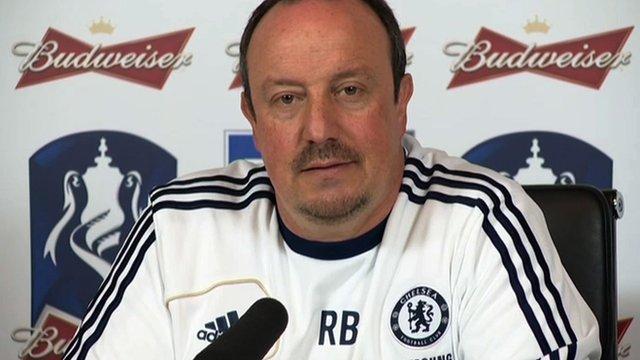 Chelsea interim boss Rafael Benitez