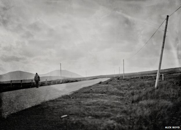 Entering the Gaeltachdt, 2012, wet-plate collodion (Digital print)