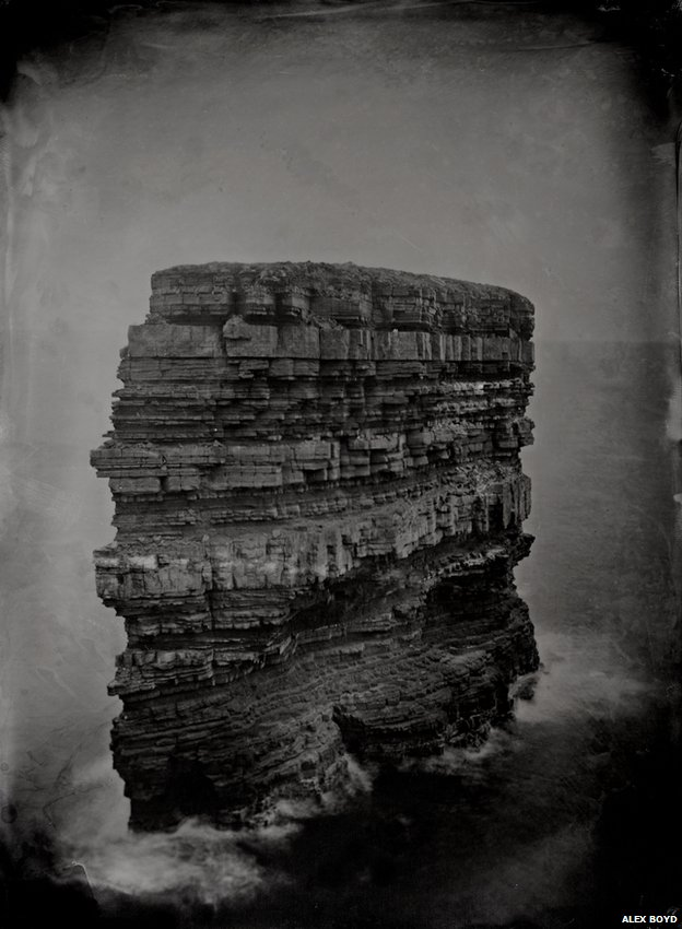 Dun Briste, 2012, wet-plate collodion (Digital print)