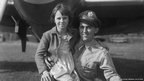 Major Jesse Davis and unnamed Duxford girl