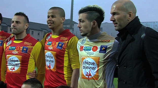 Zidane with the  Rodez Aveyron team