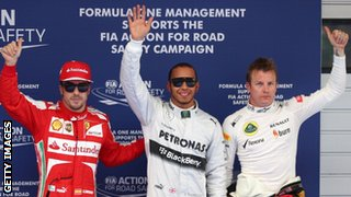 2013 Chinese GP podium
