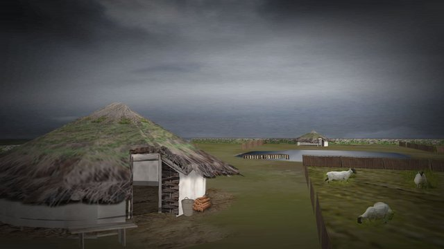 Bronze Age reconstruction of Ormesby St Michael