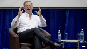 Google executive chairman Eric Schmidt on 22 March 2013