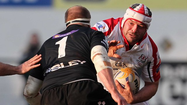Match action from Ulster against the Dragons at Ravenhill