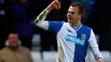 Blackburn striker Jordan Rhodes