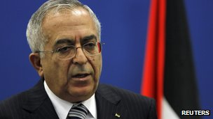 File photo of Salam Fayyad, September 2012