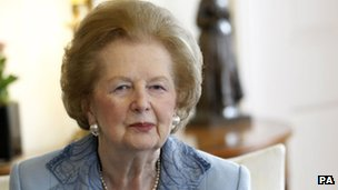 Baroness Thatcher on visit to Downing Street in 2010
