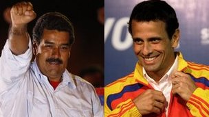 Nicolas Maduro (αριστερά) και Henrique Capriles
