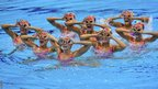 Canada's synchronised swimming team