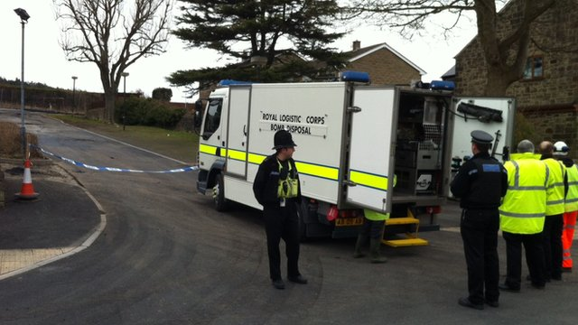 Derbyshire Police said 12 homes were evacuated for up to three hours as a precaution