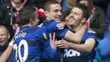 Michael Carrick puts Manchester United in front
