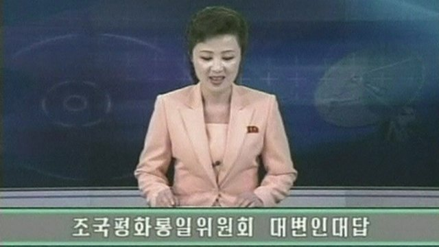 North Korean news reader