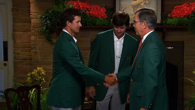 Adam Scott dons famous Green Jacket at Augusta