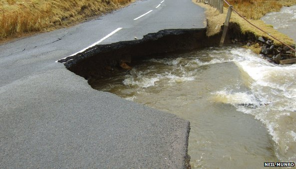 Collapsed road