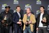 Samuel L. Jackson, Tom Hiddleston, Joss Whedon and Chris Evans