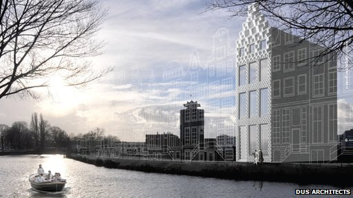 Artists impression of the canal house