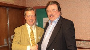 UK Independence Party leader Nigel Farage and Ken Bell