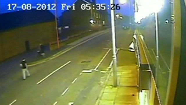 CCTV showing the three teenagers near the scene of the murder in Liverpool