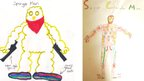 Two superhero designs