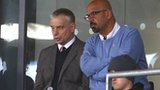 Salford City Reds head coach Brian Noble and owner Dr Marwan Koukash