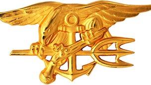 Navy Special Warfare Trident insignia worn by qualified U.S. Navy SEALs