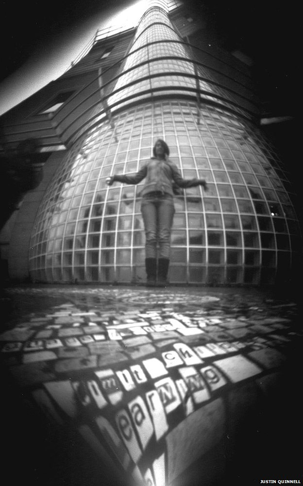 Taken using a beer can pinhole camera